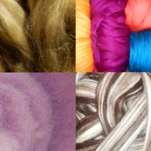 Wolle & Fasern zum Spinnen und Filzen